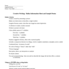 Creative Writing Haiku Information Sheet and Sample Poems