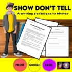 Creative Writing Lesson 1: Show, Don&#039;t Tell