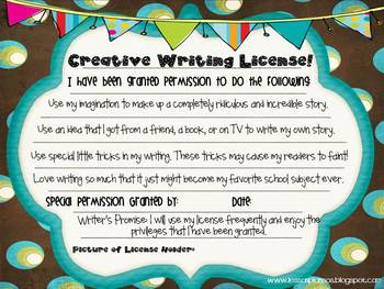 Creative Writing License