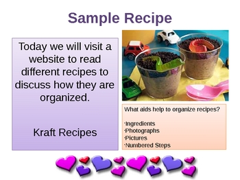 Creative Writing-Valentine Recipe PowerPoint Lesson