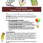 Creative writing activity: Create a new holiday (Common Core)