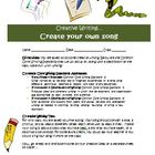 Creative writing activity: Create a song (Common Core)