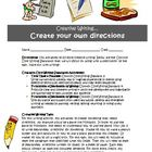 Creative writing activity: Create your own directions (Com