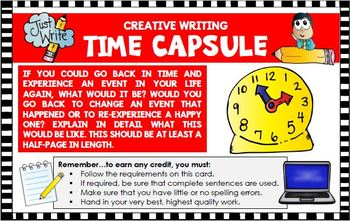 Creative writing activity: Go back in time and experience