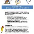 Creative writing activity: create world records (Common Core)