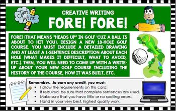 Creative writing activity:  design golf course (Common Core)