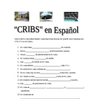 Cribs en espanol. Spanish home or house vocabulary and des