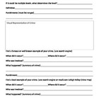 Crime Research Worksheet - Crime Vocabulary - Criminal Law