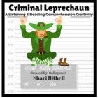 Criminal Leprechaun - St. Patrick's Day Reading Writing an