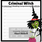Criminal Witch - Halloween Reading Writing and Listening C