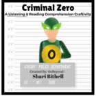 Criminal Zero - A 100th Day of School CCSS Writing and Lis