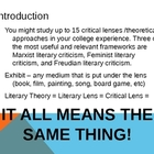 Critical Lenses 101