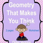 Critical Thinking Geometry that Makes you think older version