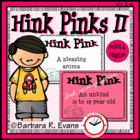 Critical Thinking Kids Love -- Hink Pinks II