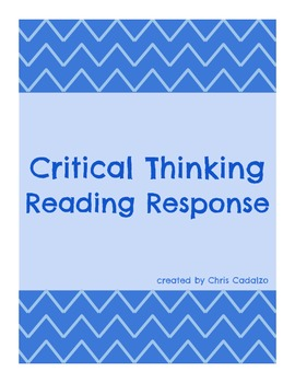 Critical Thinking Reading Response