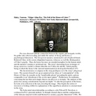 "Critical essay on Poe's ""The Fall of the House of Usher"""