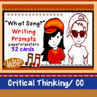 Song Lyric Writing Prompts - critical thinking, ELA, common core
