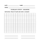 Crossword Graphic Organizer