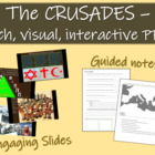 Crusades: highly visual, rich, interactive PowerPoint