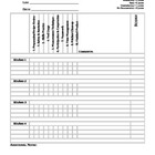 Culinary Lab Evaluation Sheet
