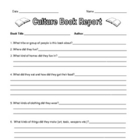 Culture Book Report with Project Grid - Native Americans etc.