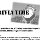 Culture Trivia Game Sub Plan (All Languages)