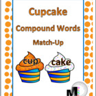 Cupcake Compound Words Match-Up Activity