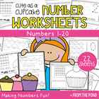 Cupcake Counting - Kindergarten Number Worksheets