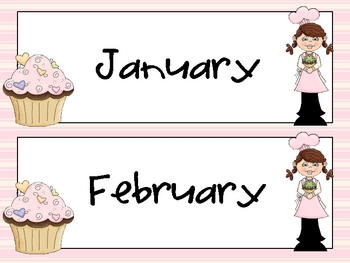 Cupcake Month Headers