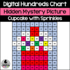 Cupcake with Sprinkles Hundreds Chart Hidden Picture Activ