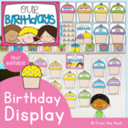 Cupcake Birthday Posters Pack - Cards - Bulletin Board Decoration