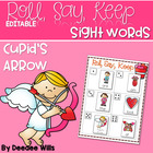 Cupid&#039;s Arrow Beginning Sight Words Roll, Say, Keep