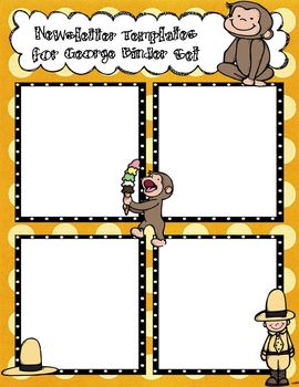 Curious George Newsletter Template to Accompany George Binder Set