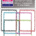 Curly Christmas Borders/Frames {Perfect for TPT Products}