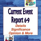 Current Event Report Form 5-9: Summarize, Analyze, Evaluate