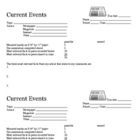 Current Events Guide and Grade Sheet (by Kim Townsel)