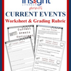 Current Events Worksheet &amp; Grading Rubric