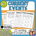 Current Events Worksheets - Use with Any Article! 14 Activities