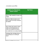 Curricular Lesson Planner (PDF)