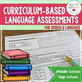 Curriculum Based Language Assessments for Grades 6-12 Alig