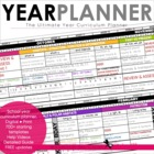 Year Planner - Beginning of the Year - Curriculum Year Pac