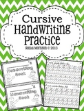 Cursive Handwriting Practice Book