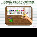 Cursive Handy Dandy Desktags - font embedded!