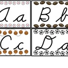 Cursive Letters for Word Wall/ Alphabet Chart (Sports Them