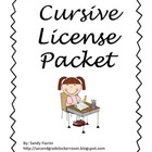 Cursive License Packet