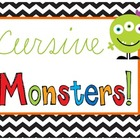 Cursive Monsters {Handwriting, Craftivity, Adjectives, & N
