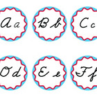 Cursive Word Wall Headers Blue and Red