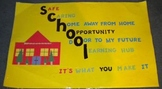 Custom Hand Made Bulletin Board: School Acronym