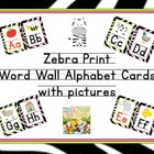 Custom Order: Zebra Alphabet Cards Lined Font with Vowels