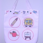 Custom painted teacher tote bag-Eco Friendly! :)